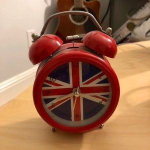 U.K. flag alarm clock